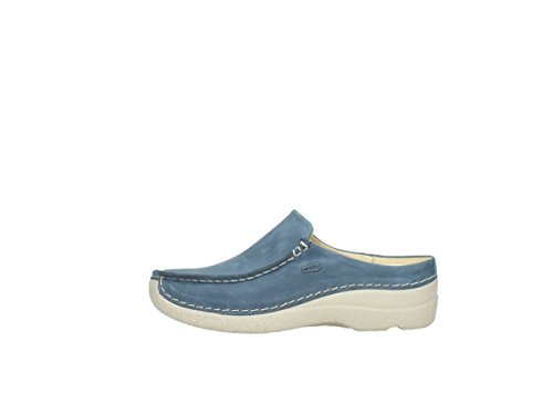 Denim Blue Wolky Slide Nubuck Zoccoli Comfort 182 Seamy nUq8O