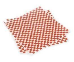"""Bundleofbeauty Item#677hy- 100 Sheets 12 X12"""" Red and White Checkered Food Picnic Basket Hamburger Paper Liners & Wrapping Tissue"""