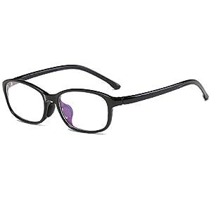 Fantia Non-Prescription Glasses Frame TR90 Clear Lens Kids Eyeglasses (A)