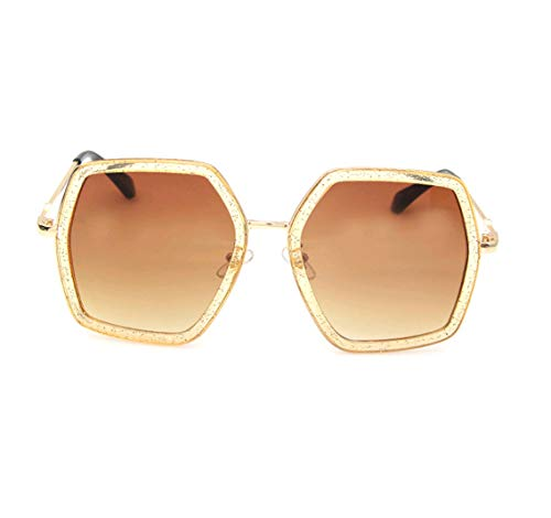 GAMT Oversized Square Sunglasses Women Vintage UV Protection?irregular Brand Designer Shades (champagne)