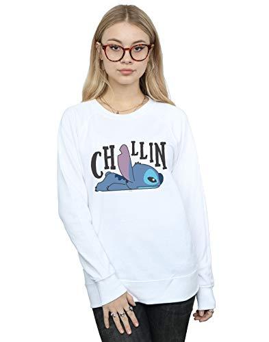 De Camisa Chillin Disney Entrenamiento Lilo Blanco Stitch Mujer amp; qYznv
