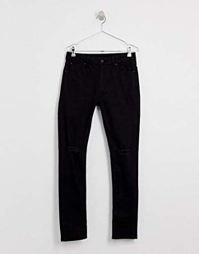 エイソス ジーンズ メンズ ASOS DESIGN super skinny jeans with knee rips [並行輸入品]
