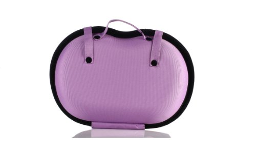 Lyceem Portable Protect Bra Underwear Lingerie Case Travel Organizer-Lace-Purple-Buxom Cup
