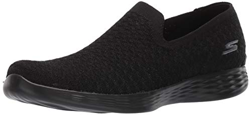 Skechers Women's You Define-Passion Sneaker, Black, 7.5 M US