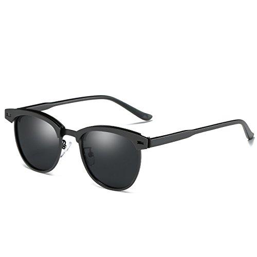 sol TIANLIANG04 Guía de sol Hombres de gafas de gafas polarizadas C2 gris Black Gafas C1 Unisex de Gold calidad Black Alta zIXPrzg