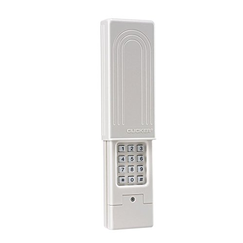 Chamberlain Group Clicker Universal Keyless Entry KLIK2U-P2, Works with Chamberlain, LiftMaster, Craftsman, Genie and More, Security +2.0 Compatible Garage Door Opener Keypad, White - Linear Hard Box