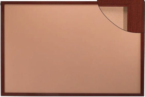 2'H x 3'W Heavy-Duty Professional Series Cork Boards with Wood-Look Trim, Oak Wood-Look Finish