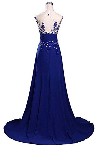 Vickyben Azul Vestido Mujer Plumaje Para P7TBrPqxwO