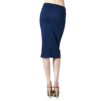 Azules Women's Below The Knee Pencil Skirt at Women's Clothing store