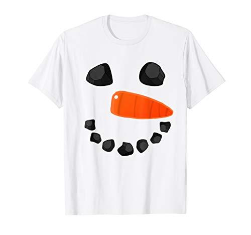Snowman Face Shirt Funny Christmas Costume T-Shirt Xmas Tee -