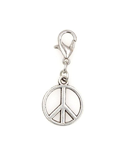 - It's All About...You! Peace Sign Clip on Charm Perfect for Necklaces and Bracelets 96P