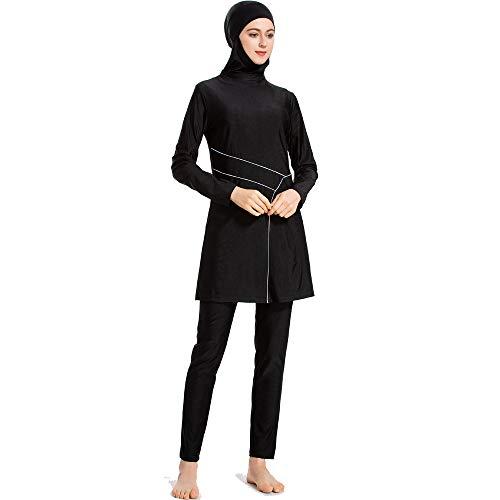 LHZTZKA Badpak voor dames, Hijab, sneldrogend, elastisch, zonwering.