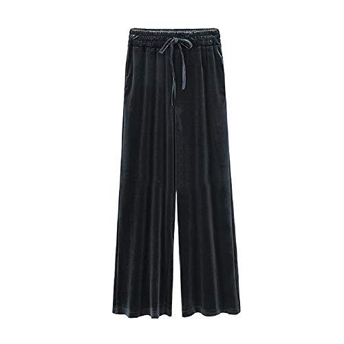 FuweiEncore Pantaloni Invernali Donna Larghi Taglie Forti (Colore : Nero, Dimensione : XXL) Nero
