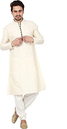 Wondercraft Diwali Special Traditional Wear Silk Blend Kurta Pajama Men's Designer Dress by Wondercraft