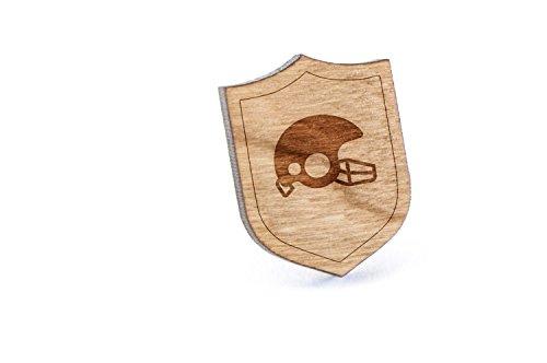 Football Helmet Lapel Pin, Wooden - Lapel Helmet Football Pin