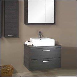 Iotti A18-Glossy White-637509906993 Aurora Collection Bathroom Vanity, Glossy White