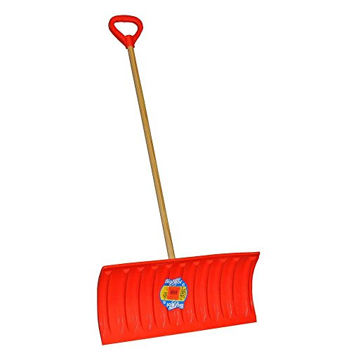 Emsco Bigfoot Series 25 in. Poly Pusher Snow Shovel with Wooden