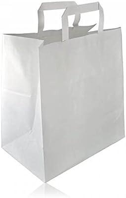 Lote de 50 bolsas de papel Kraft con asas planas, regalo ...