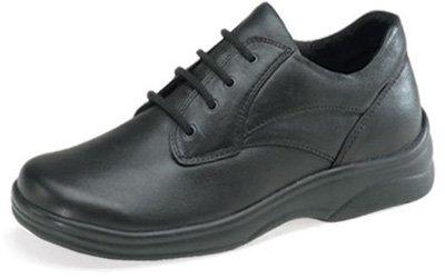 (Aetrex Women's Ariya Black Casual Walking Oxford Comfort Shoe- Y500W - Size 7 XW US)