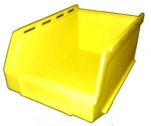 PB17 Plastic Storage Box/Parts Bin - Yellow Pack of 10 Kabi