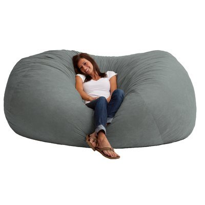 Incroyable Extra Large 6u0027 Fuf Comfort Suede Bean Bag Cover Only Grey By Ink Craft