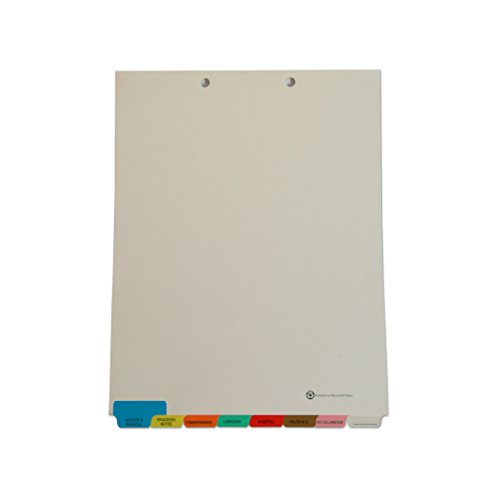 Medical Arts Press Match Medical Chart Index Dividers- 8 Tabs, Letter Size, Manila, End Tab (50 Sets/Box)