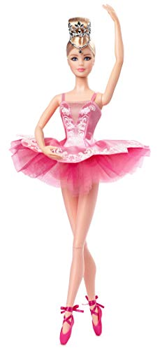 Barbie Signature Ballet Wishes Doll, Approx. 12-in Wearing Tutu, Pointe Shoes and Tiara, with Doll Stand and Certificate of Authenticity, Gift for 6 Year Olds and Up