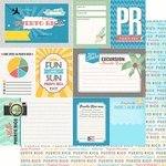 Puerto Rico Tropical Travel Journal 12'' x 12'' Double-Sided Scrapbook Paper - 1 Sheet (37051) by Scrapbook Customs (Image #1)