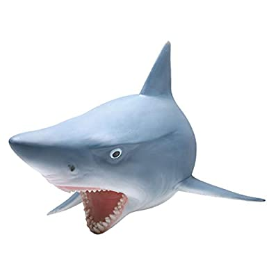WHAT ON EARTH 3D Shark Wall Sculpture - Realistic Mounted Fish Head Art