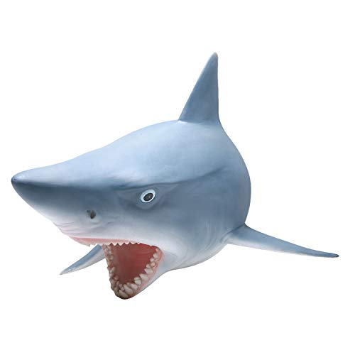 WHAT ON EARTH 3D Shark Wall Sculpture - Realistic Mounted Fish Head - Sculpture Earth