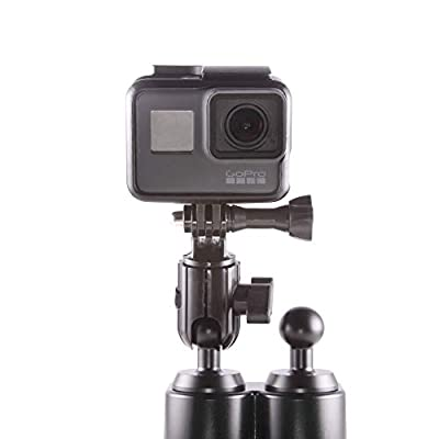 Dash Mount Camera Holder Compatible with GoPro - Attaches to 20mm Mounting Ball