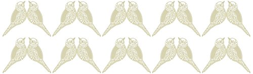Ginger Ray Vintage Lace Bird Place Card For Glass (10 Pack), Ivory