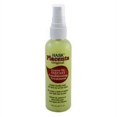 Hask Placenta Leave-In Conditioner Treatment Original 5 Ounce (145ml) (3 Pack) Placenta Hair Care