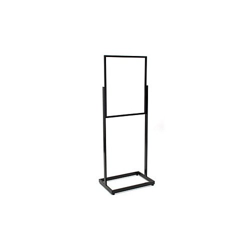 Floor Standing Sign Holder in Black 22 x 28 Inches with Rectangular Tube