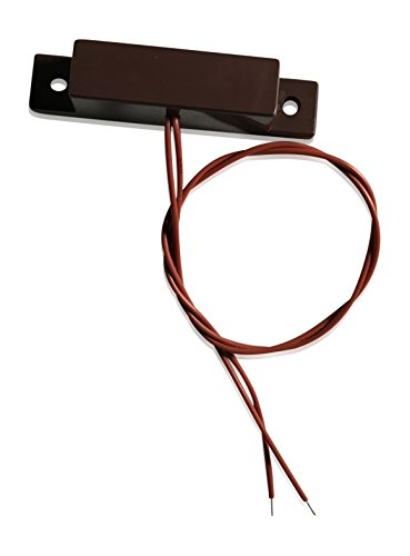 "3 pcs Brown Wired Door Contacts Surface Mount NC Security Alarm Door Window Sensors.These ¾"" Door Contact Position switches (DCS) Work with All Access Control and Burglar Alarm Systems by INTELLid (Image #1)"