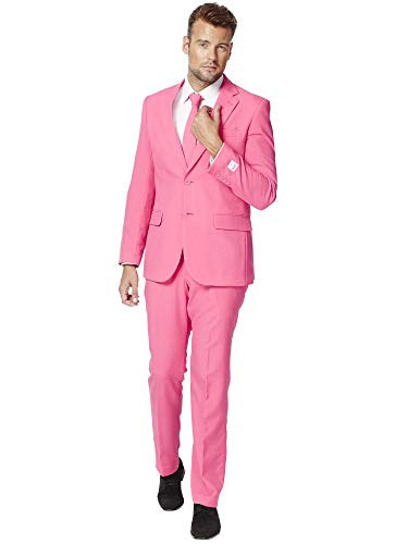 OppoSuits Men's Party Costume Suit, Pink,