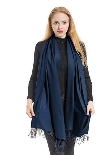 - Elzama Solid Color Shawl Scarf | Large & Cashmere Soft Pashmina for Women | Winter Blanket Wrap