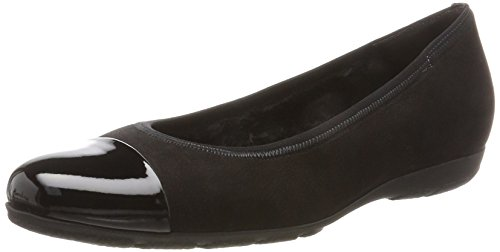 Gabor Ladies Casual Ballerine Chiuse Nere (87 Nero)