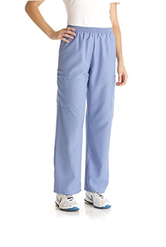 Medline PerforMAX Unisex Elastic Waist Scrub Pant, Medium, Navy