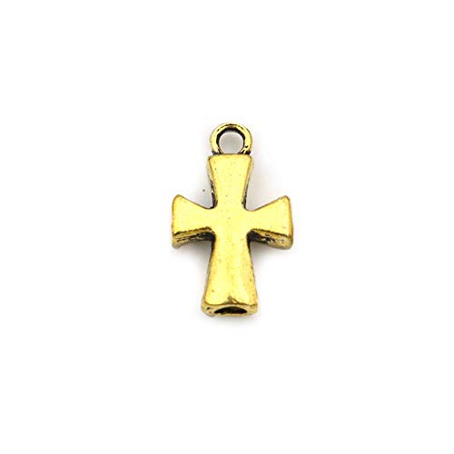 - Charms - 5pcs 22mm Antique Gold Silver Christian Cross Metal Charm Pendant for Jewelry Making DIY Bracelet Necklace Accessories Wholesale - by YPT - 1 PCs