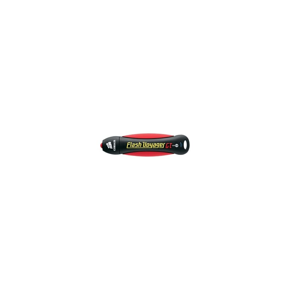 Corsair Flash Voyager GT 16 GB USB 3.0 Flash Drive   Black, Red   LJ4449