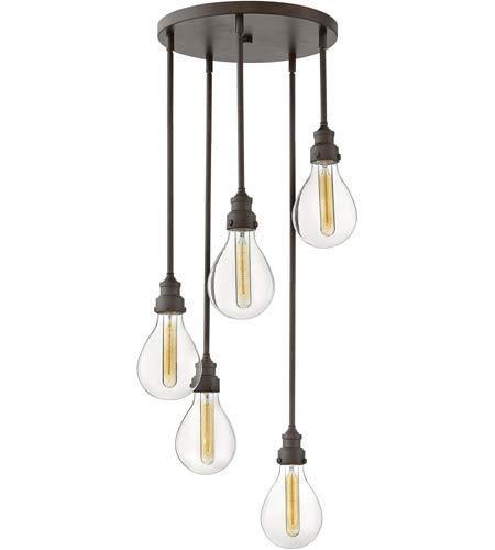 Lighting Accessories 5 Light Fixtures with Industrial Iron Finish Steel Material Medium 18