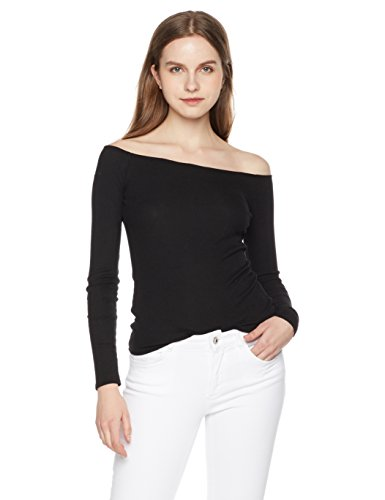 Something for Everyone Women's Fitted Off-Shoulder Ribbed Top