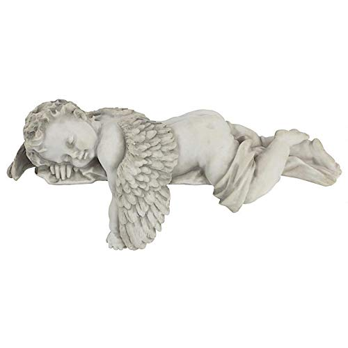Design Toscano Sleepy Time Baby Angel Napping Shelf Sitter Statue, 12 Inch, Single (Baby Statues)