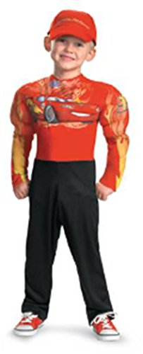 Costumes Toddler Mcqueen Lightning (Disguise lightning mcqueen muscle classic costume toddler small)