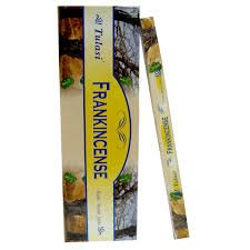 - Frankincense - 8 Gram Square Pack - Tulasi Incense (3 Pack)