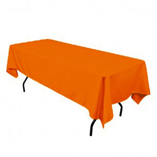 Tablecloth Polyester Rectangular Restaurant Line 54X72 Inch Orange By Broward Linens