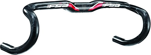 Full Speed Ahead FSA K-Wing Carbon Compact Road Bicycle Handlebar - Black (Black - 31.8 x 40)