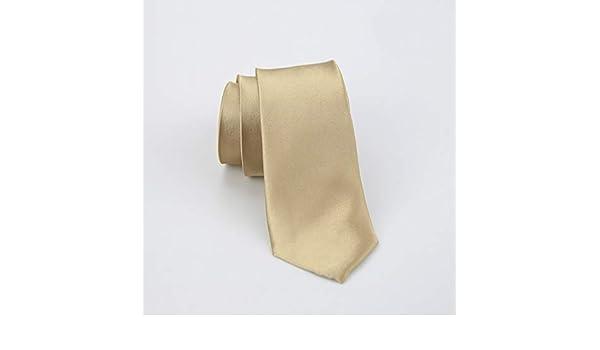 JEOSNDE Versión Estrecha 6.5 cm Champagne Tie Business Casual ...