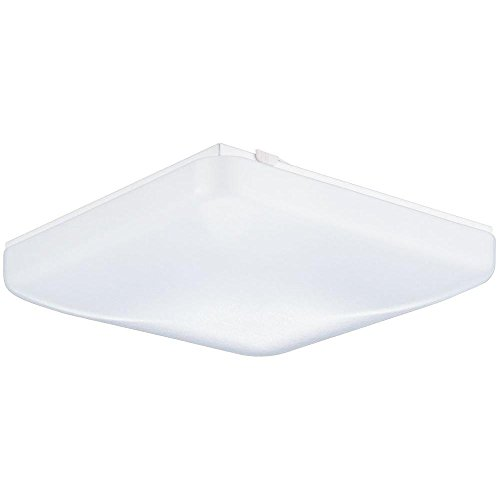 LB72149 LED Flush Mount Ceiling Light, White, 12', 15W (100W equivalent), 1050 Lumens, 4000K Daylight, LED Ceiling Light, ETL & DLC Listed, ENERGY STAR, Dimmable